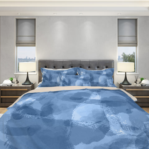 Wet Paint Duvet Cover Set - Blue Bedding Set | Brandless Artist