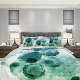 Green Watercolor Blots Bedding - Watercolor Bedding | Brandless Artist