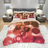 Brown and Red Watercolor Blots Bedding - Red Watercolor Duvet Cover | Brandless Artist