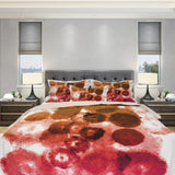 Red Watercolor Duvet Cover - Watercolor Blots Duvet Cover | Brandless Artist
