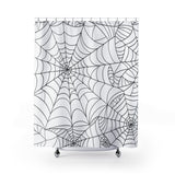 Spider Web Shower Curtain - Halloween Decor | Brandless Artist