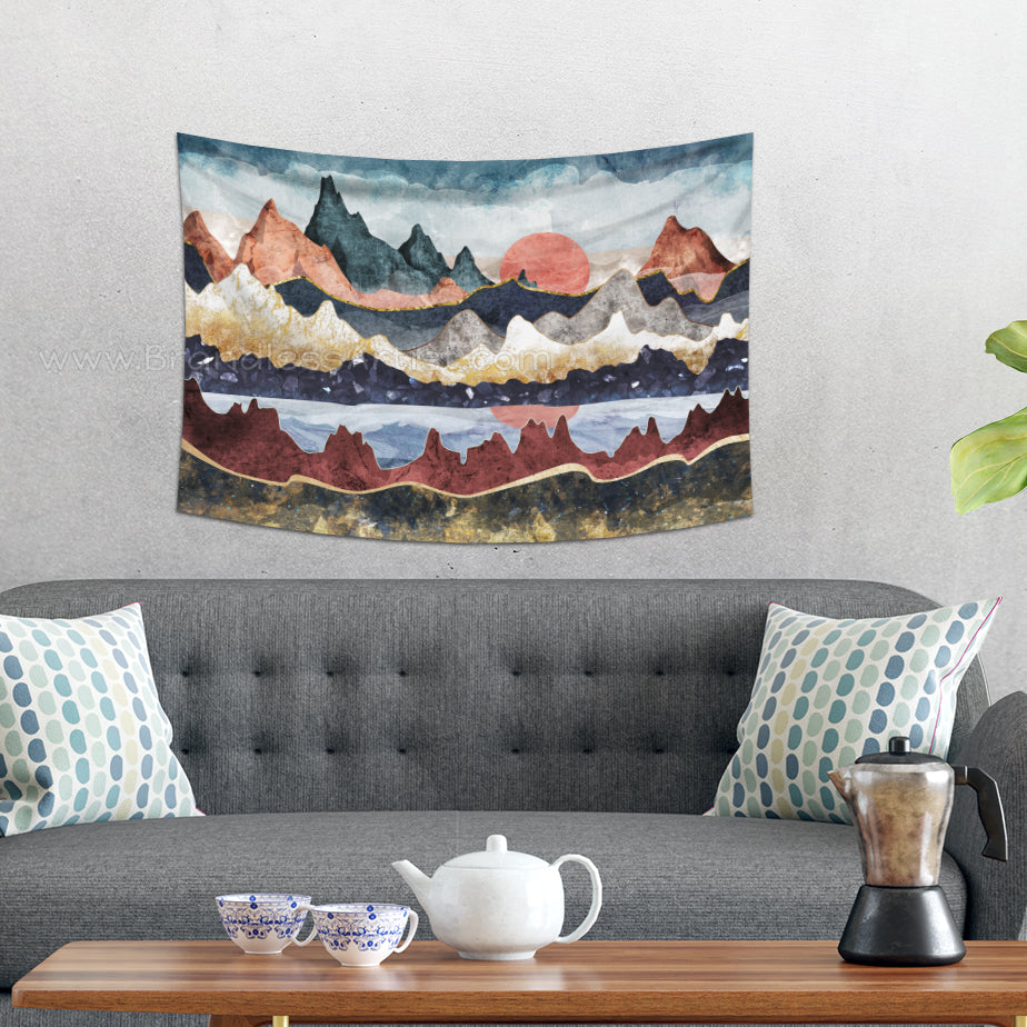 Detail Rich Wall Hanging with Mountain Landscape | Brandless Artist
