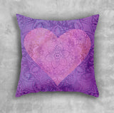 Love Cushion - Purple Decorative Pillow with Heart | Brandless Artist