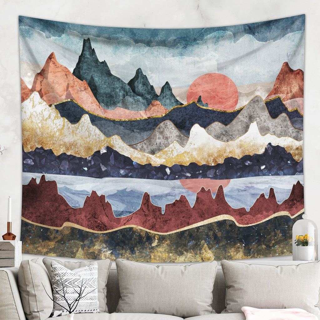Scenic Mountain Landscape Tapestry Wall Hanging | Brandless Artist