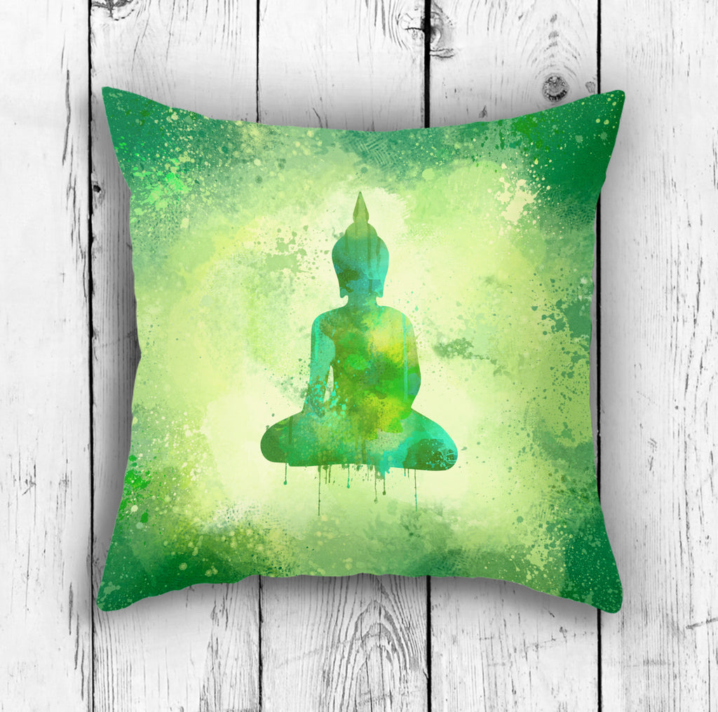 Nature Buddha Pillow - Green Meditation Room Decor | Brandless Artist