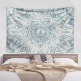 Weathered Mandala Tapestry Bright Green and Yellow | Brandless Artist