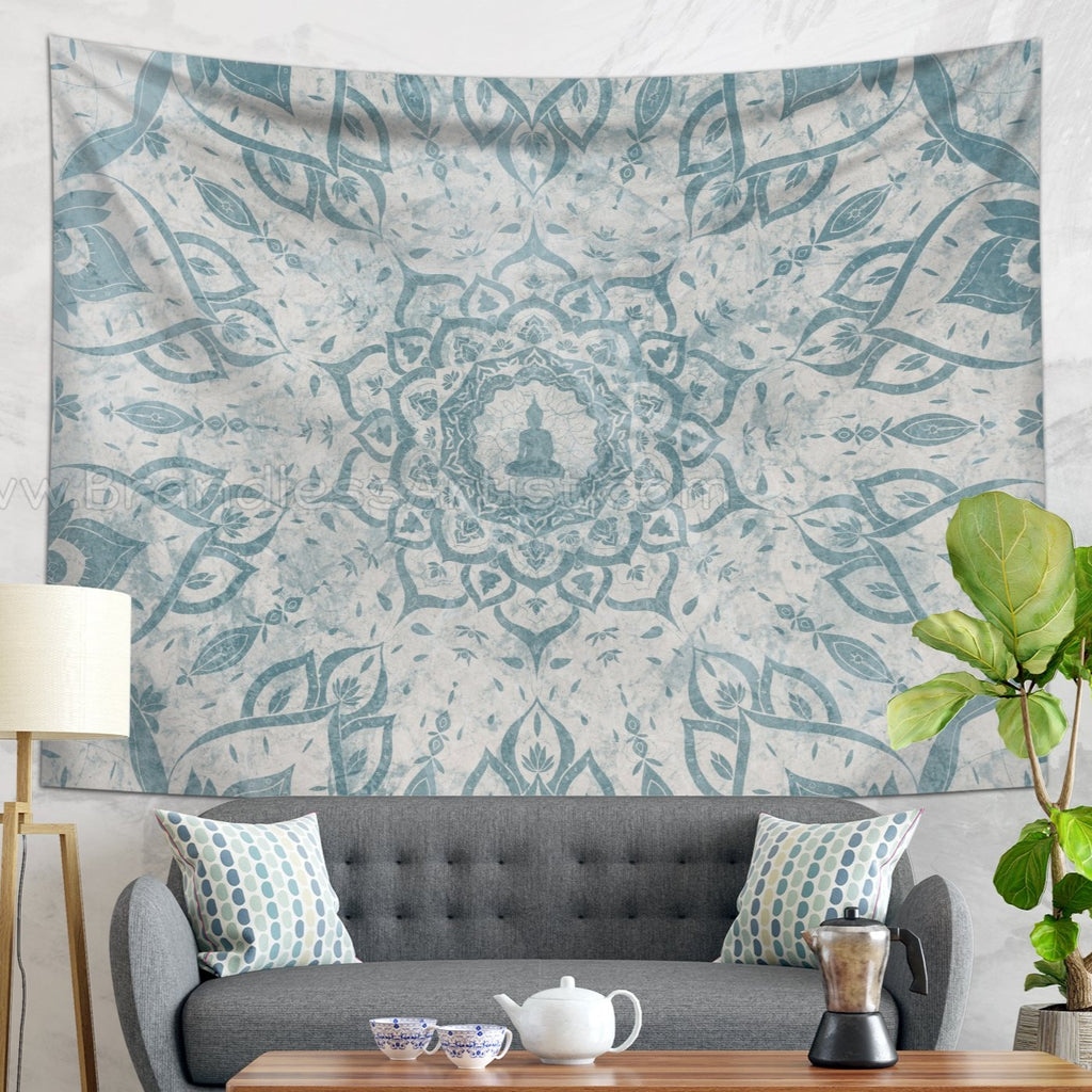 Rustic Mandala Tapestry Floral Wall Hanging for Meditation Room | Brandless Artist