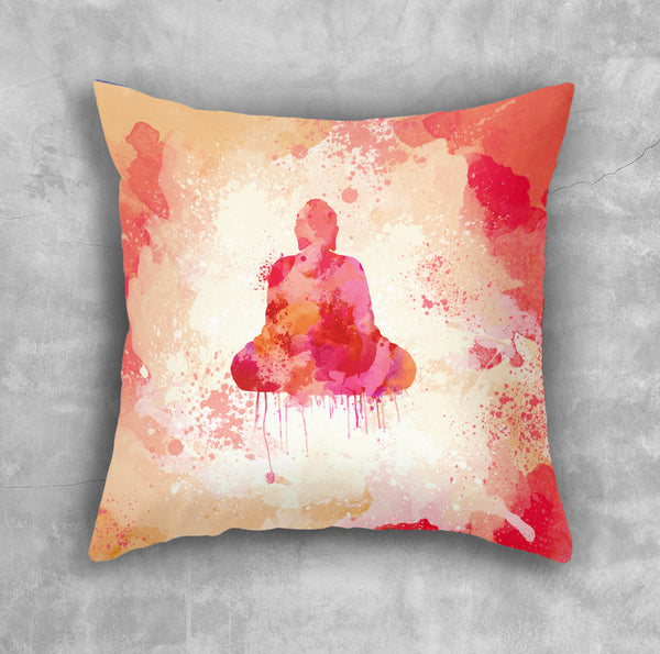 Red Buddha Pillow Case - Brandless Artist