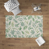Bohemian Vintage Rug With Leaves, Rectangle Area Rug | Brandless Artist