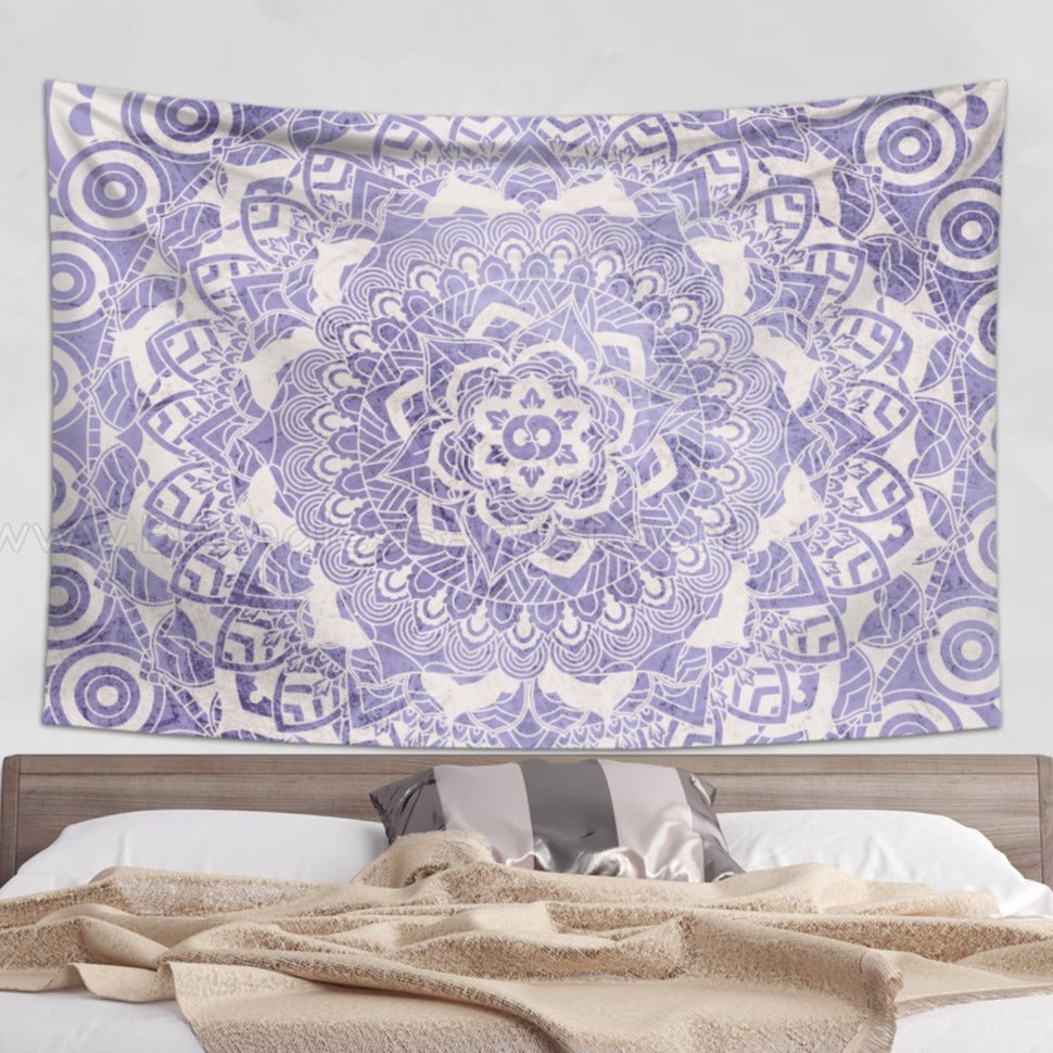 Faded Purple Mandala Tapestry Wall Hanging | Brandless Artist