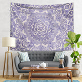 Weathered Mandala Wall Decor with Purple and Beige Colors  | Brandless Artist