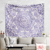 Purple Mandala Tapestry with Faded Texture Rustic Wall Hanging  | Brandless Artist