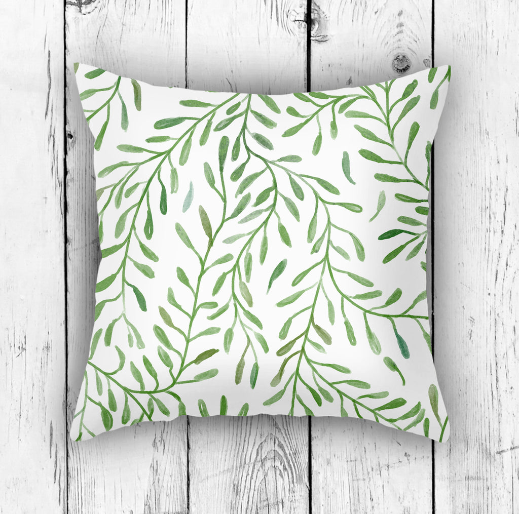 Botanical Pillow in Green - Modern Nature Pillow for Sofas | Brandless Artist