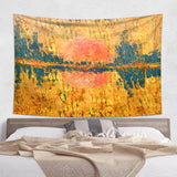 Golden Landscape Tapestry - Abstract Wall Hanging | Brandless Artist