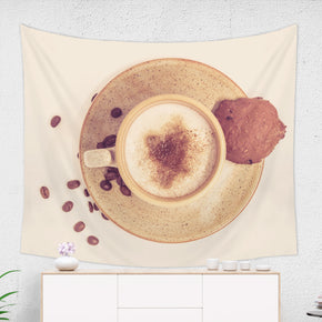 Coffee Wall Tapestry Dorm Room Decor, Beige and Brown | Brandless Artist