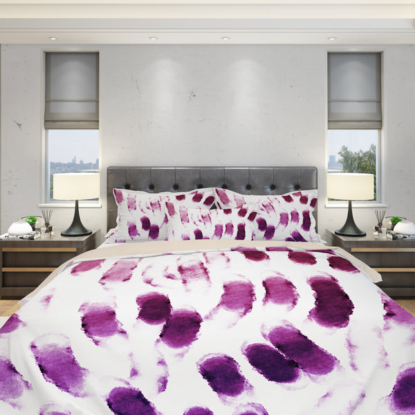 Purple Strokes Duvet Cover