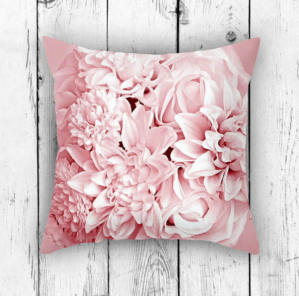 Pink Floral Pillow - Brandless Artist