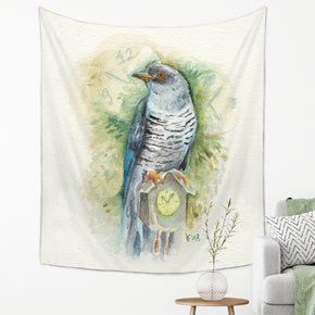 Watercolor Bird Tapestry - Brandless Artist