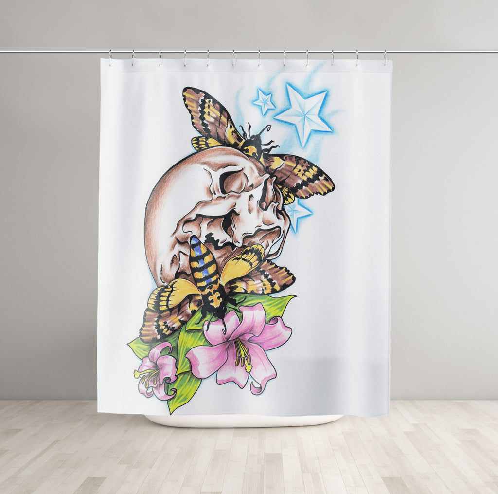 Floral Skull Shower Curtain - Brandless Artist