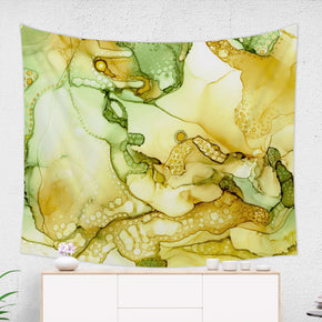 Yellow Liquid Tapestry - Brandless Artist