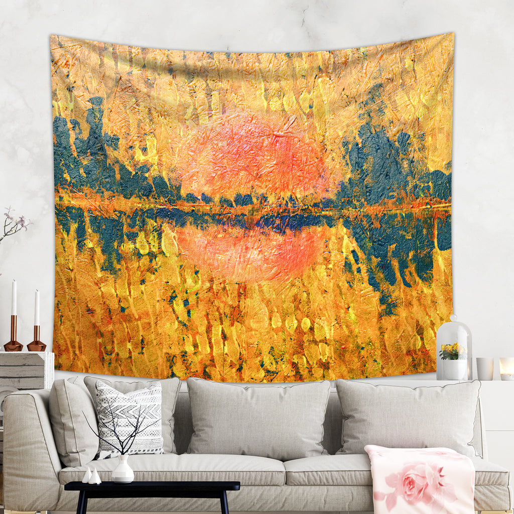 Abstract Landscape Tapestry Wall Hanging - Boho Home Decor | Brandless Artist