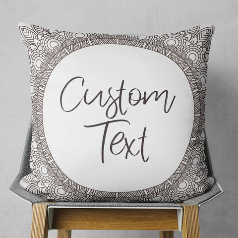 personalized pillow on chair