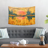 Golden Nature Tapestry - Mountain Wall Hanging  | Brandless Artist