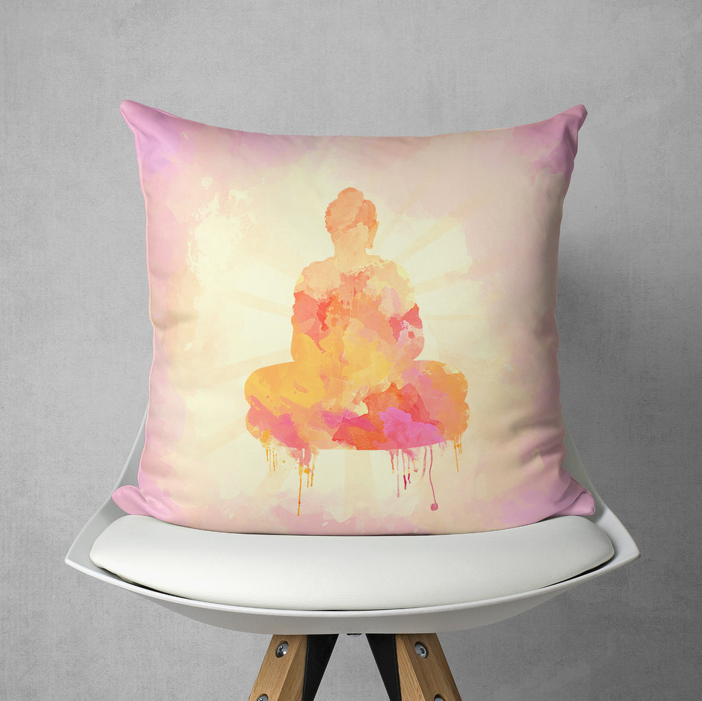 Yellow Buddha Pillow - Meditation Home Decor | Brandless Artist