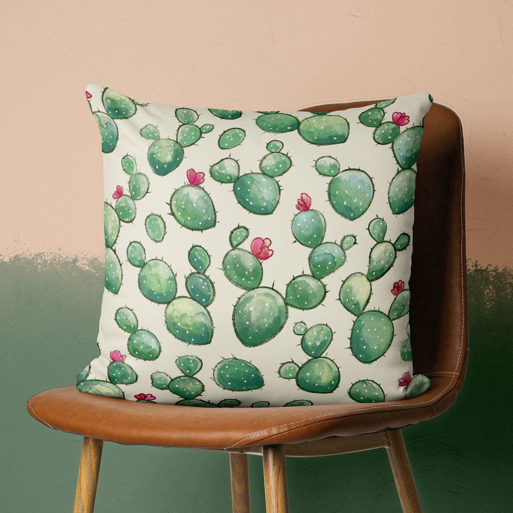 Desert Sofa Pillow Cover - Happy Cacti Pattern Cushion | Brandless Artist