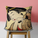 Japanese Pillow - Traditional Asian Couch Decor