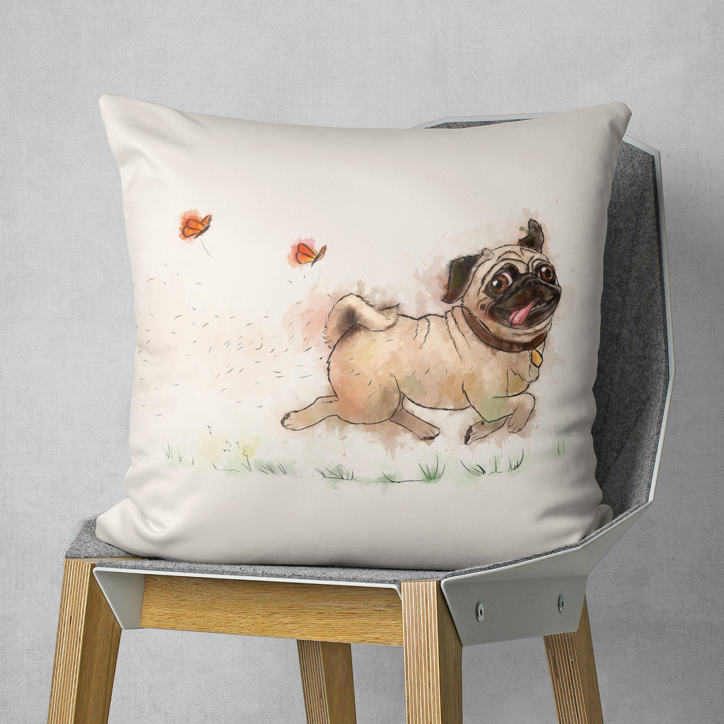 Funny Pug Pillow - Dog Lover Gift | Brandless Artist