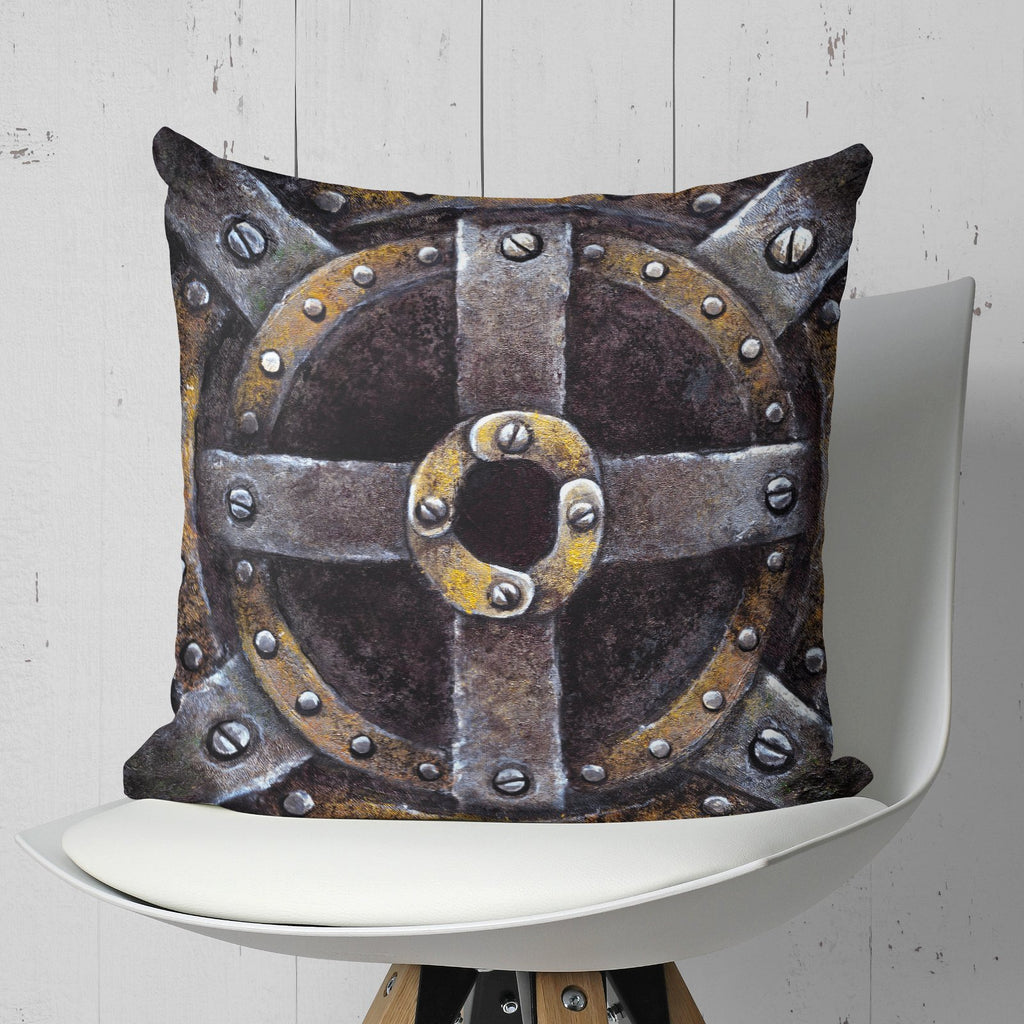 Steampunk Pillow Metallic Man Cave Decor | Brandless Artist