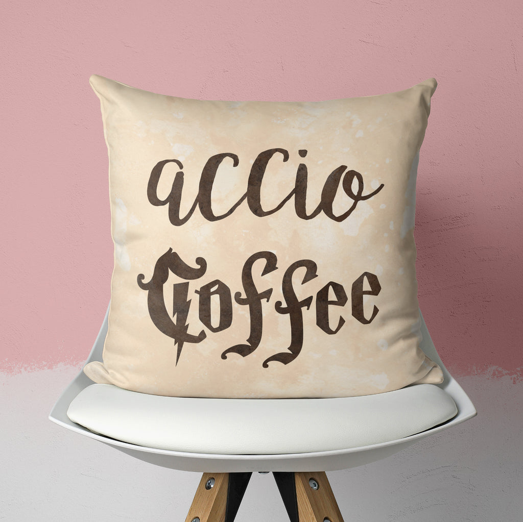 Potterhead Coffee Pillow - Wizardry Cushion | Brandless Artist