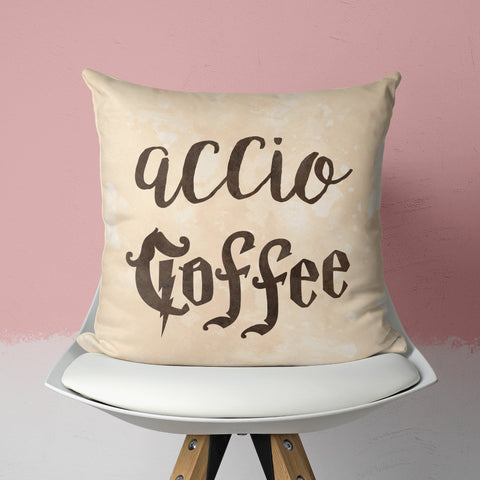 accio coffee pillow on chair