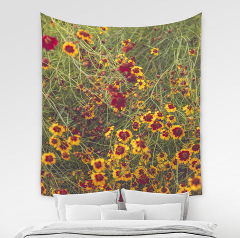 Floral Wall Tapestry - Brandless Artist