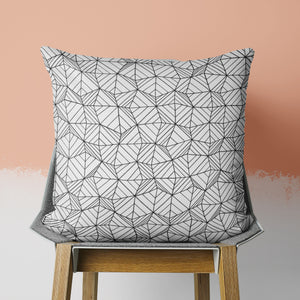 Geometric Doodle Pillow in Black and White | Brandless Artist