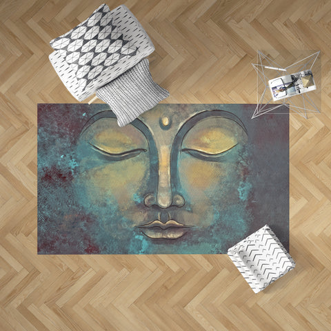 Rustic Buddha Rug on Floor | Brandless Artist