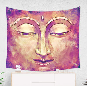 Gold and Pink Buddha Tapestry - Brandless Artist