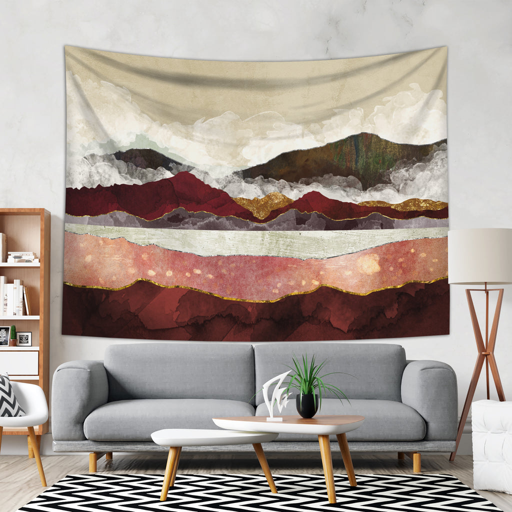 Large Wall Hanging - Mountain home Decor Tapestry | Brandless Artist
