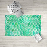 Rainy Leaf Dobby Rug in Room | Brandless Artist Home Decor