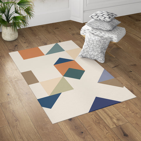 Geometric Accent Rug in Room with Throw Pillows | Brandless Artist
