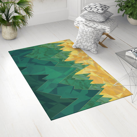 Yellow and Green Mountain Dobby Rug in Room | Brandless Artist