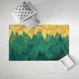 Landscape Dobby Rug Floor Decoration | Brandless Artist