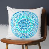Buy Turquoise Pillow Cover with Tribal Pattern, Square | Brandless Artist