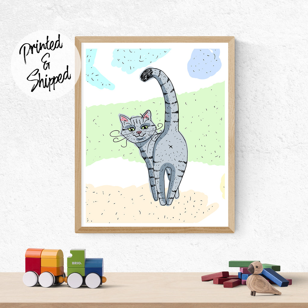 Funny Cat Print - Cat Lover Decor | Brandless Artist