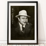Al Capone Art Print - Gangster Man Cave Wall Art | Brandless Artist