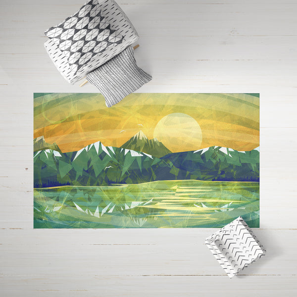 Sunset Landscape Area Rug Floor Decoration