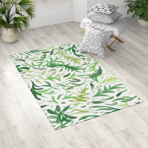 Boho Green Leaves Rug for Bohemian Room | Brandless Artist