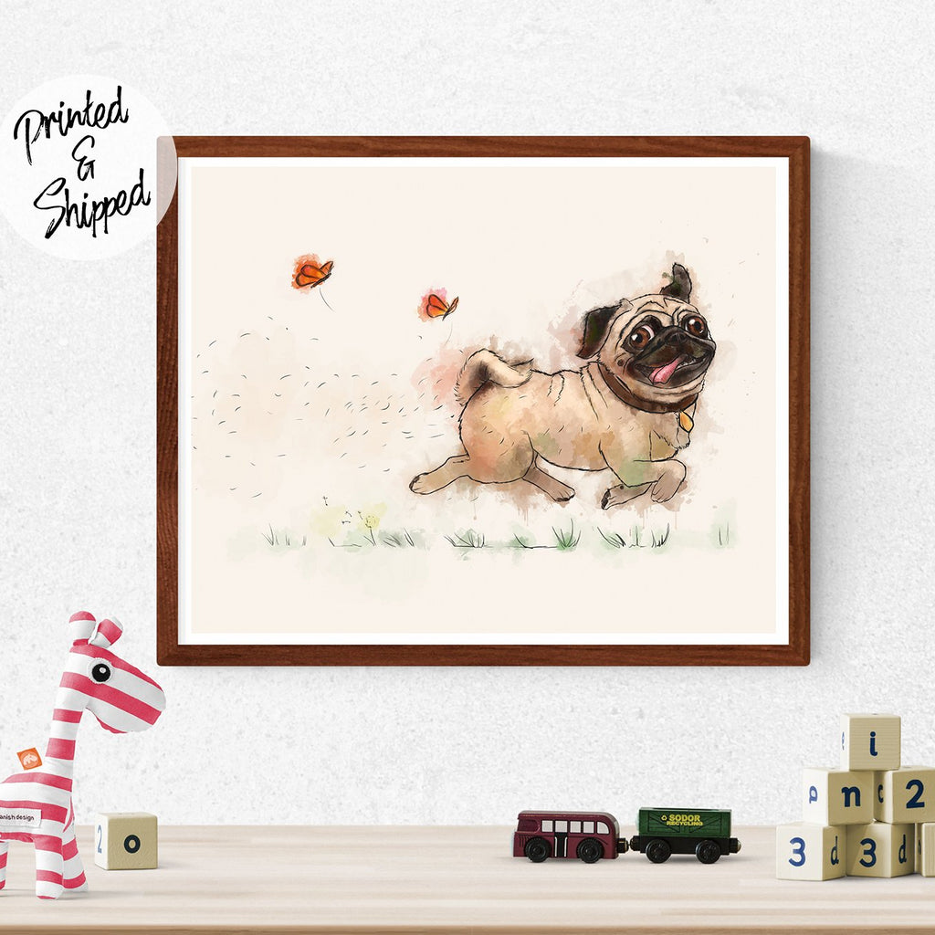 Funny Pug Print - Kids Room Decor | Brandless Arist