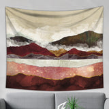 Brown Mountain Tapestry - Misty Wall Hanging